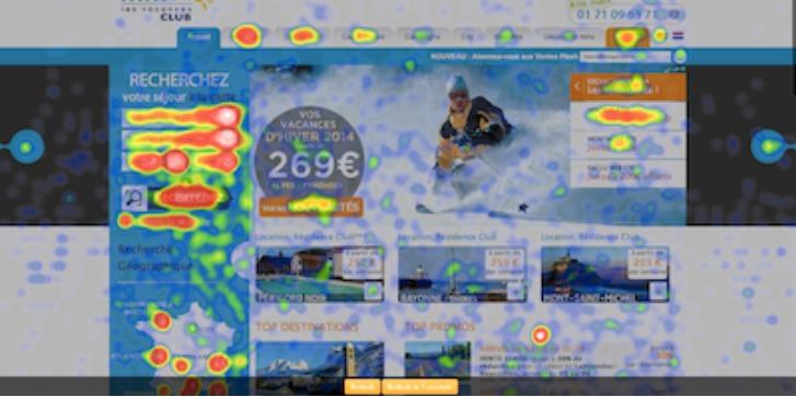 Carte de chaleur clic site internet